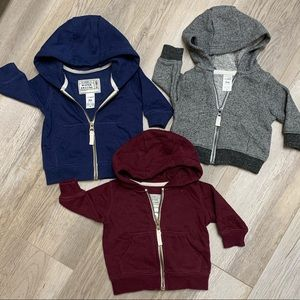 Bundle of Carter's hooded sweaters